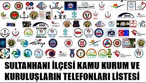 SULTANHANI İLÇESİ RESMİ KURUM ve MUHTAR TELEFONLARI LİSTESİ