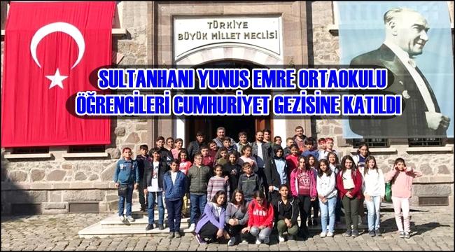 Sultanhani Yunus Emre Ortaokulu Ogrencileri Cumhuriyet Gezisine