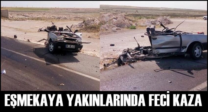EŞMEKAYA ESKİL YOLUNDA FECİ KAZA...