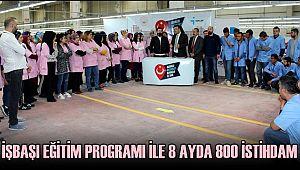 AKSARAY'DA İŞBAŞI EĞİTİM PROGRAMI İLE 8 AYDA 800 İSTİHDAM