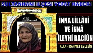 MUZAFFER EŞİ SIDIKA KARA VEFAT ETTİ 02.10.2019 ÇARŞAMBA