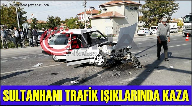 SULTANHANI TRAFİK IŞIKLARINDA KAZA