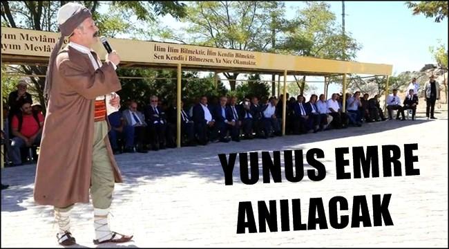YUNUS EMRE 9 EKİM ÇARŞAMBA GÜNÜ ANILACAK