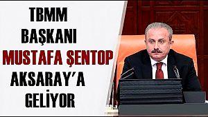 TBMM BAŞKANI PROF. DR.MUSTAFA ŞENTOP AKSARAY'A GELİYOR