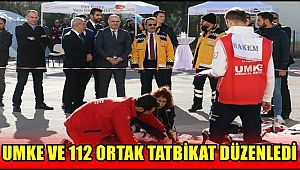 AKSARAY'DA UMKE VE 112 ORTAK TATBİKAT DÜZENLEDİ