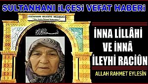 MEHMET ALİ EŞİ HALİME YUMUŞAK VEFAT ETTİ 14.01.2020 SALI