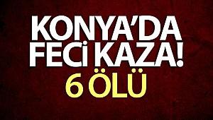 Feci kaza! Konya'da minibüs ile tır çarpıştı: 6 ölü