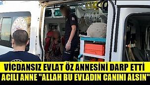 "ÖZ ANNESİNİ DARP ETTİ, ACILI ANNE ""ALLAH BU EVLADIN CANINI ALSIN"""