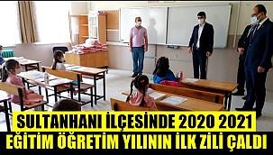 SULTANHANI İLÇESİNDE 2020 2021 EĞİTİM ÖĞRETİM YILININ İLK ZİLİ ÇALDI