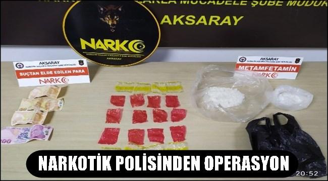 AKSARAY'DA NARKOTİK POLİSİNDEN OPERASYON
