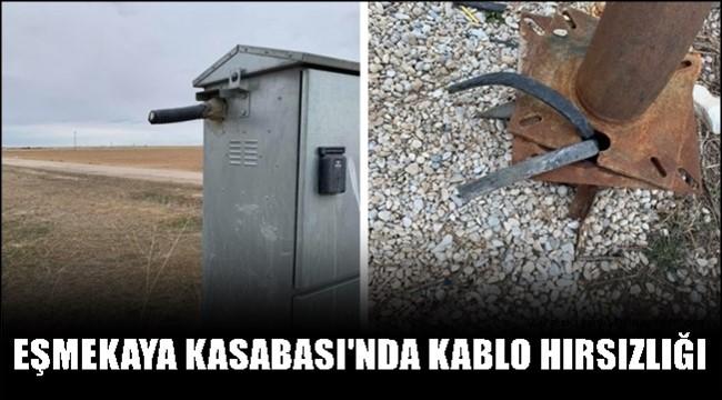 EŞMEKAYA KASABASI'NDA ARAZİDE KABLO HIRSIZLIĞI