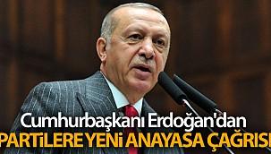 Cumhurbaşkanı Erdoğan'dan partilere yeni anayasa çağrısı