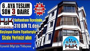 HSK MÜHENDİSLİK'DEN SULTANHANI İLÇESİNDE SON 3 DAİRE İÇİN TIKLAYINIZ