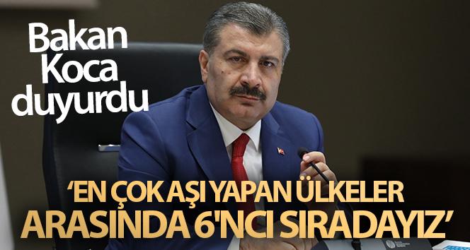 Bakan Koca: 'Türkiye, kendi aşısını henüz üretmemiş ülkeler içinde en çok aşı yapan ülkedir'