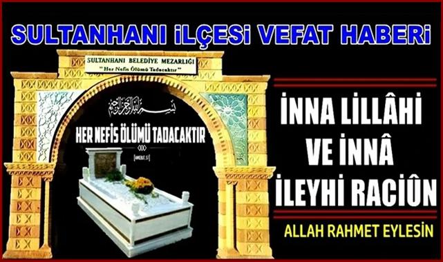 HACI ABDURRAHMAN EŞİ PEMBE (GÜLLÜ) AYKÜL VEFAT ETTİ 13.09.2021 PAZARTESİ