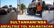 SULTANHANI BELEDİYESİ ASFALT ÇALIŞMALARINA BAŞLADI