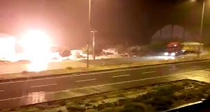 Sultanhanı İlçesinde Elektrik Trafosunun patlama anı Kameralara yansıdı